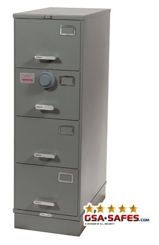 Class 6, 4 Drawer GSA Approved File Cabinet w/ X-10 Lock, Gray