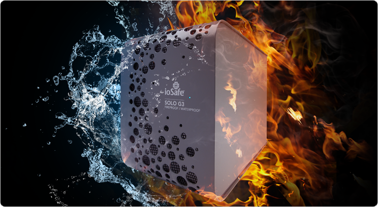 All the benefits of a fireproof & waterproof hard drive, with a near silent design!