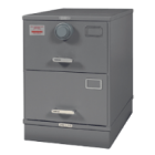 Class 6, 2 Drawer GSA Approved File Cabinet w/ X-09 Lock, Gray