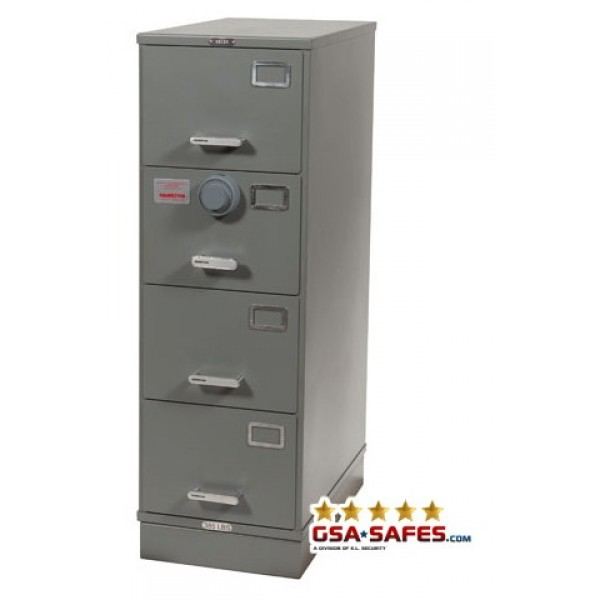 ... Class 6, 4 Drawer GSA Approved File Cabinet W/ X 10 Lock,